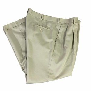 Dockers Premium Pants Mens 38x29 Slacks Beige Cuff